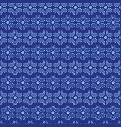 Paisley with frill and dot print on blue vector