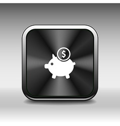 Piggy icon bank economy coin money piggy account s vector image
