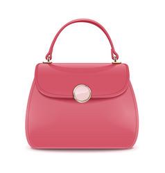 Pink female handbag vector