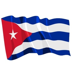 Political waving flag of cuba vector