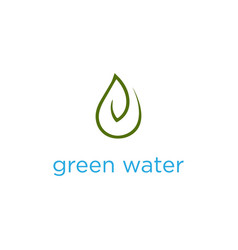 pure natural healthy water leaf logo concept vector image