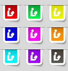 Read a book icon sign set of multicolored modern vector