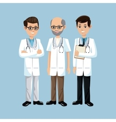 Set doctors group medical vector