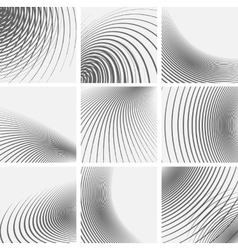 Set of striped abstract forms vector image