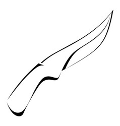 Silhouette of a knife on a white background vector image