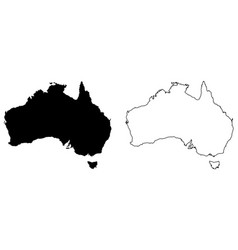 simple only sharp corners map australia vector image