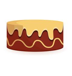 sweet birthday cake icon cartoon style vector image