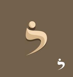 Swoosh man beauty logo vector