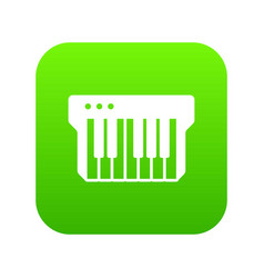 synthesizer icon green vector image