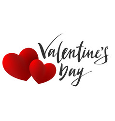valentines day lettering text for greeting card vector image
