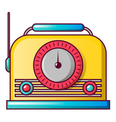 vintage fm radio icon cartoon style vector image