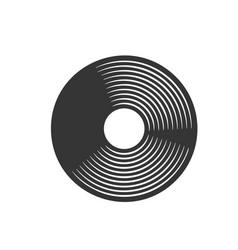 Vinyl lp record retro icon vector