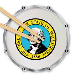 Washington snare drum vector