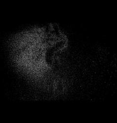 water splash texture isolated on black vector image