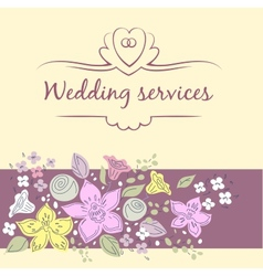 Wedding service vector image