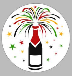 Wine firecracker vector