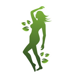 woman beauty and nature vector image
