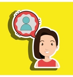 Woman communication speak avatar vector