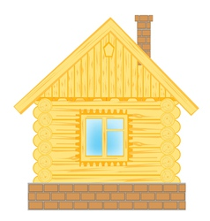 Wooden lodge on white vector