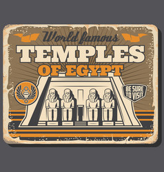 World famous ancient egypt temples and pyramids vector