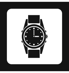 Wrist watch icon simple style vector