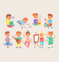 young children kids boys and girls school vector image