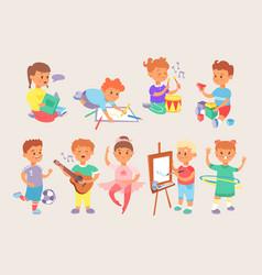 Young children kids boys and girls school vector
