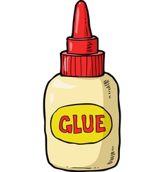 bottle with glue vector image