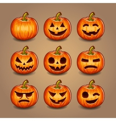 Halloween Pumpkins set vector image vector image
