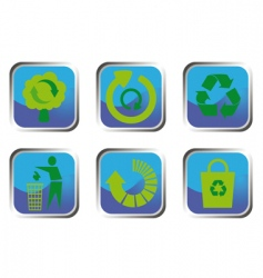 recycle button set vector image vector image