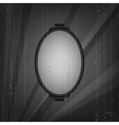 Retro frame on old grunge background vector image