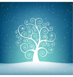 The snow tree vector image
