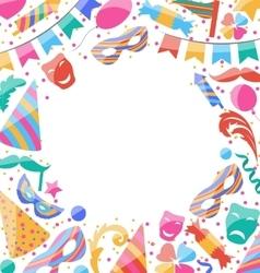 Frame Celebration background with carnival vector image vector image