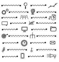 simple seo icons set basic seo elements texture vector image