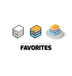 Favorites icon in different style vector image vector image