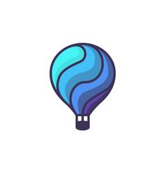 hot air baloon logo cartoon of hot vector image