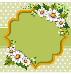 margarites spring frame vector image vector image