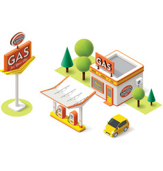 gas filling station vector image