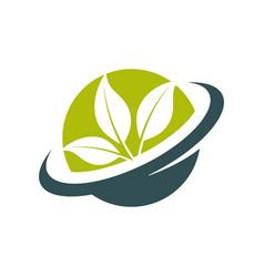 Green eco globe icon vector