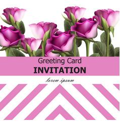 greeting card vintage roses background vector image