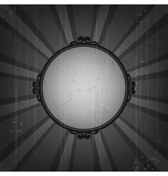 Retro frame on old grunge background vector image