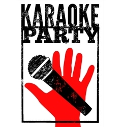 Typographic retro grunge karaoke poster vector image vector image