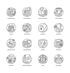 100 banking and finance icons vector