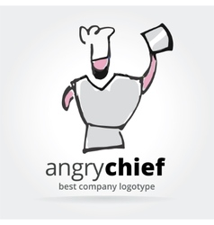 abstract chef logotype isolated on white vector image