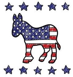American democrat vector image