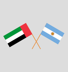 Argentinean and uae flags vector