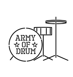 Army of drum vector