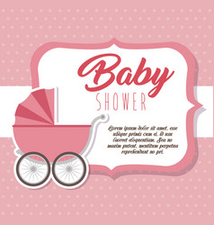 baby shower greeting card vector image