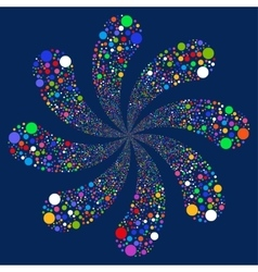 Ball Fireworks Swirl With Eight Petals vector