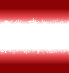 banner or background with snowflakes new year vector image